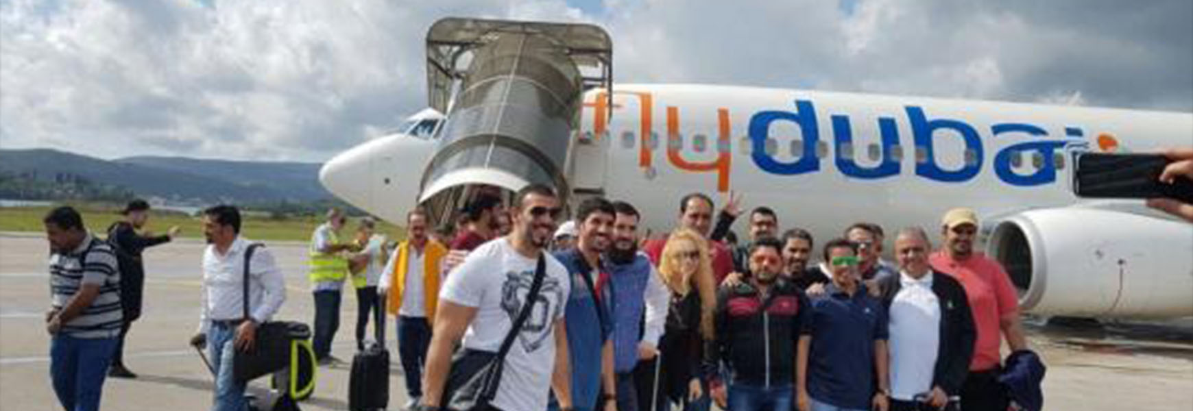 The first flight from Dubai arrived in Tivat