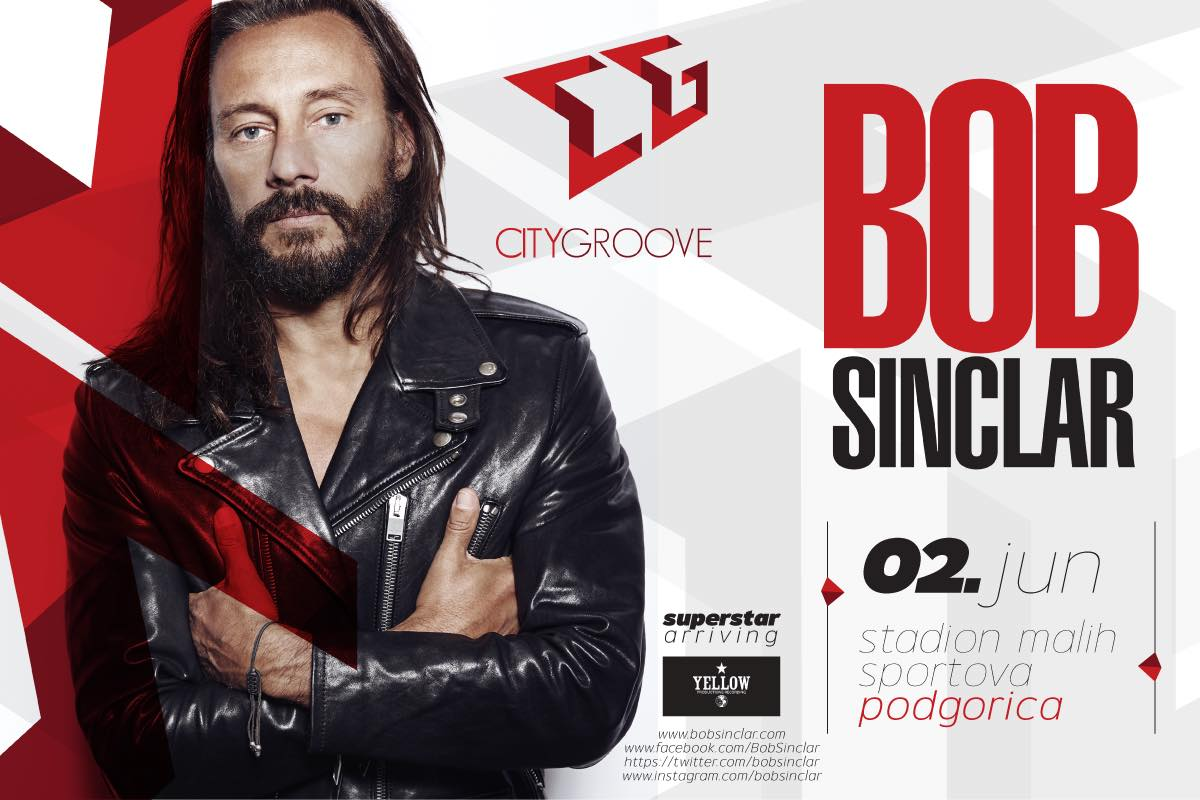 Bob Sinclar performing this June in Podgorica