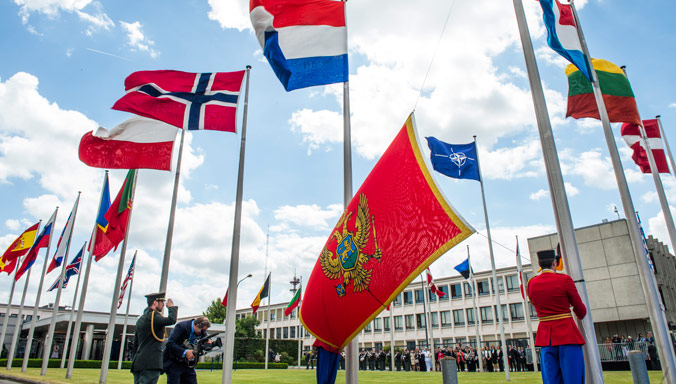 Flag-raising ceremony marks Montenegro's entry into NATO