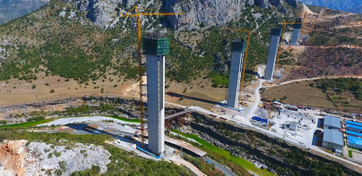 Construction completed on the pillars of the largest bridge in the ex-Yu region