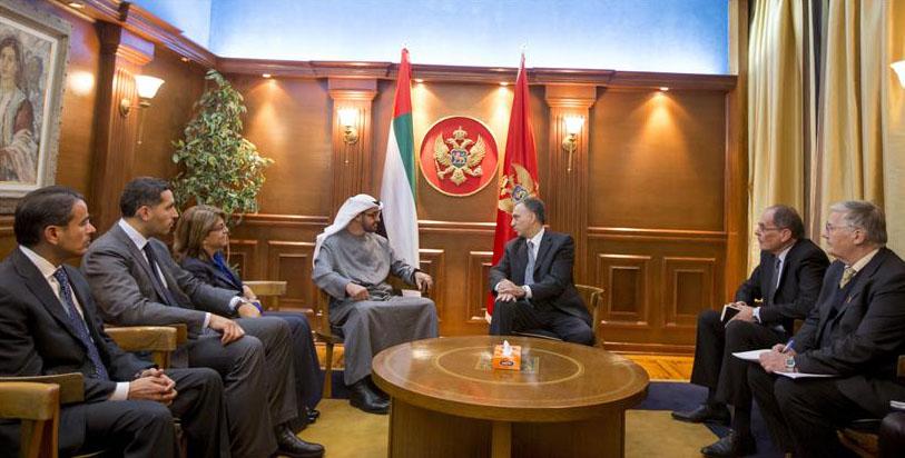 Shaikh Mohammad Bin Zayed receives Montenegro, Serbian Presidents