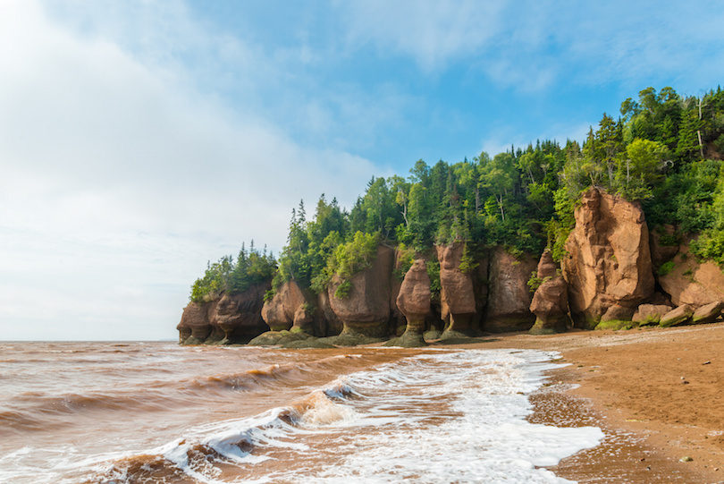 Famous Hopewell Rocks flowerpot formations at low tide ( New Brunswick, Canada)
