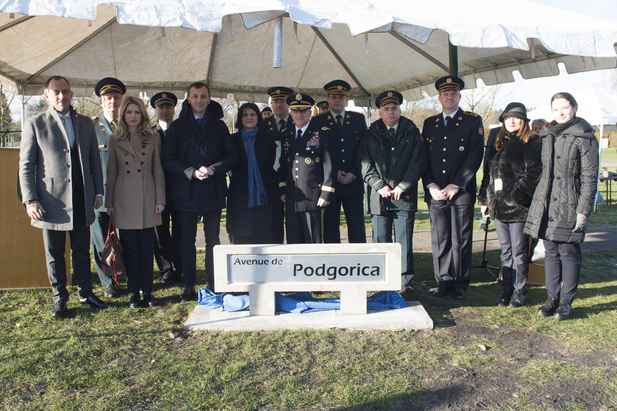 Podgorica got a street in NATO headquarters in Mons