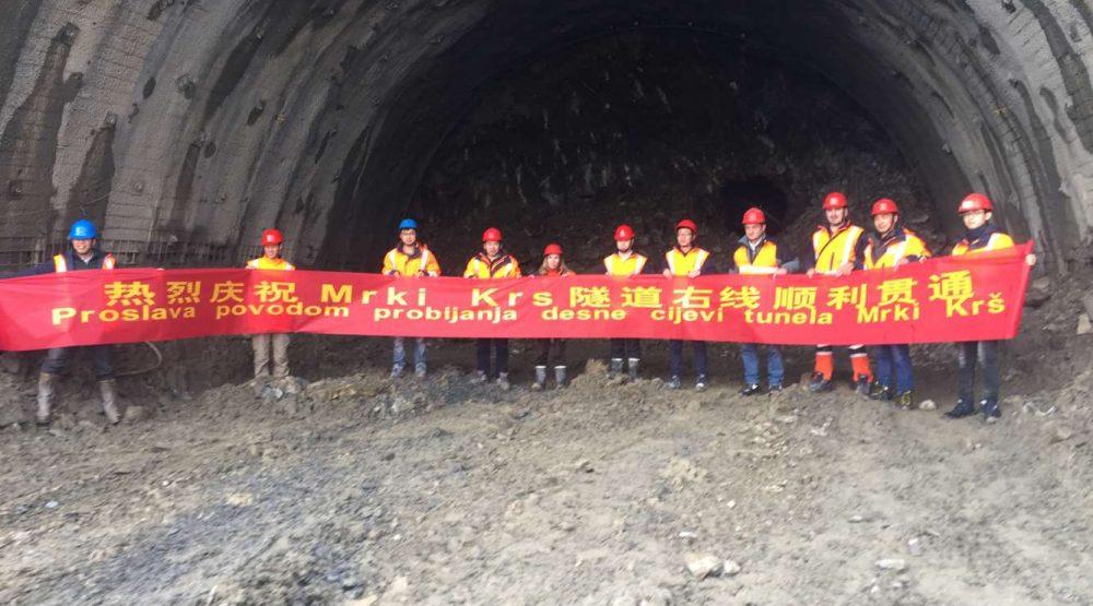 Mrki Krs and Mala Trava tunnels bored
