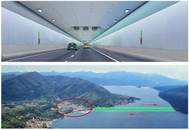 Instead of bridge at Verige, the Luštica – Zelenika tunnel?