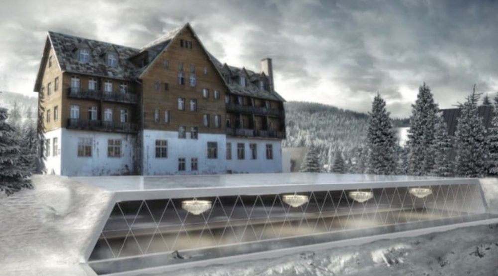 Construction of the Durmitor Hotel begins